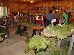 wreathmaking workshop in action